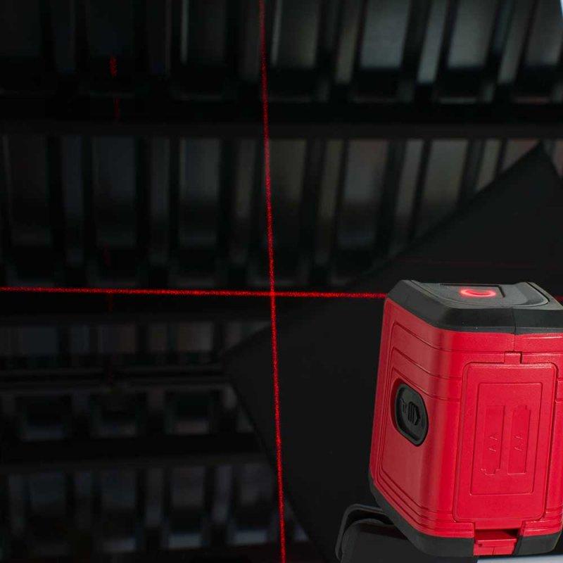 Αλφάδι σταυρού laser 8m BORMANN BDM1000
