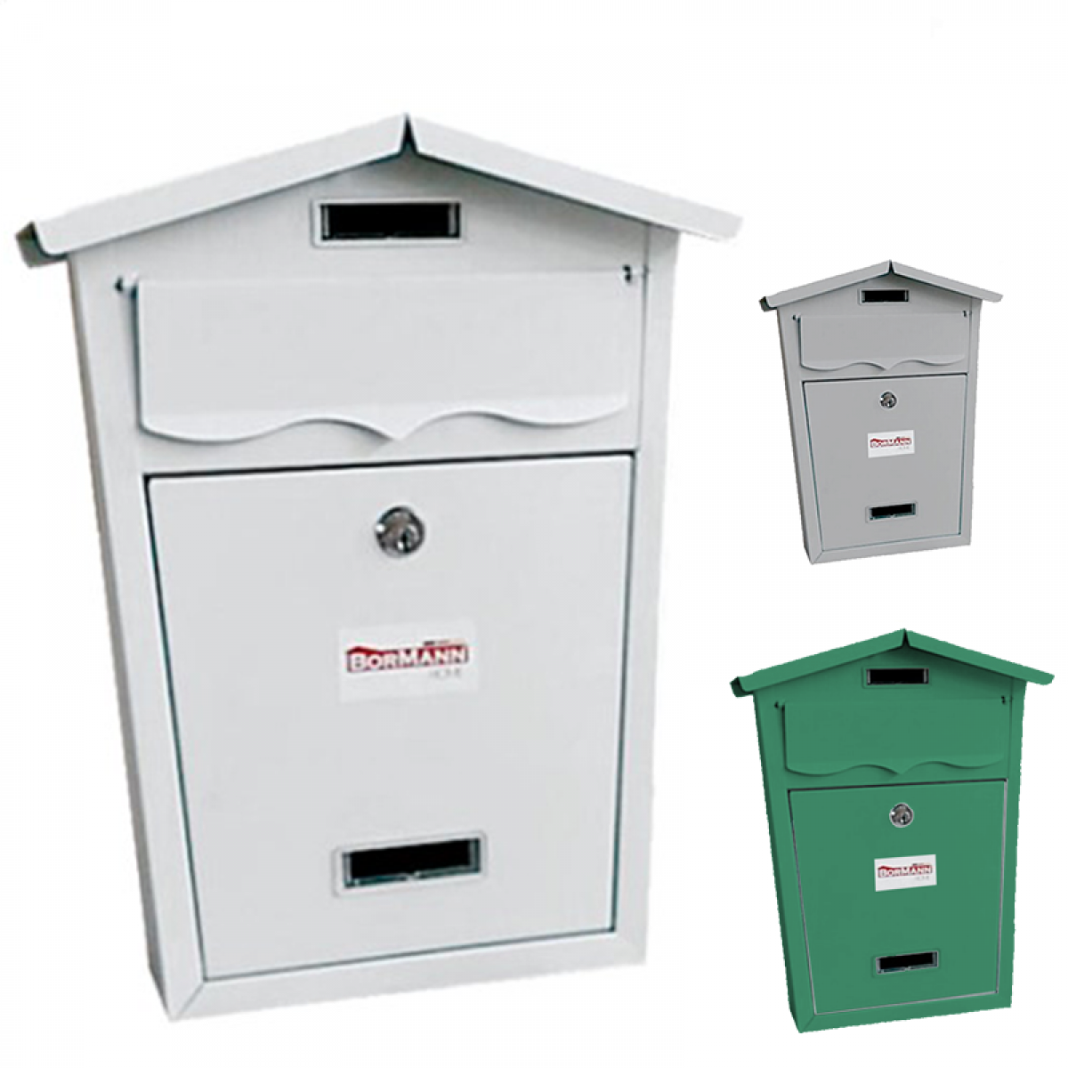 Γραμματοκιβώτιο BORMANN κυπαρισσί BMB1303 Γραμματοκιβώτιο BORMANN γκρι BMB1302 Γραμματοκιβώτιο BORMANN λευκό BMB1301