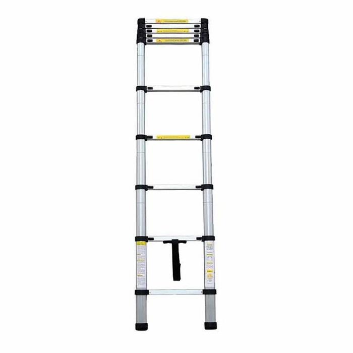 Τηλεσκοπική σκάλα αλουμινίου με 7 σκαλιά BORMANN BHL7000 Τηλεσκοπική σκάλα αλουμινίου με 10 σκαλιά BORMANN BHL7010