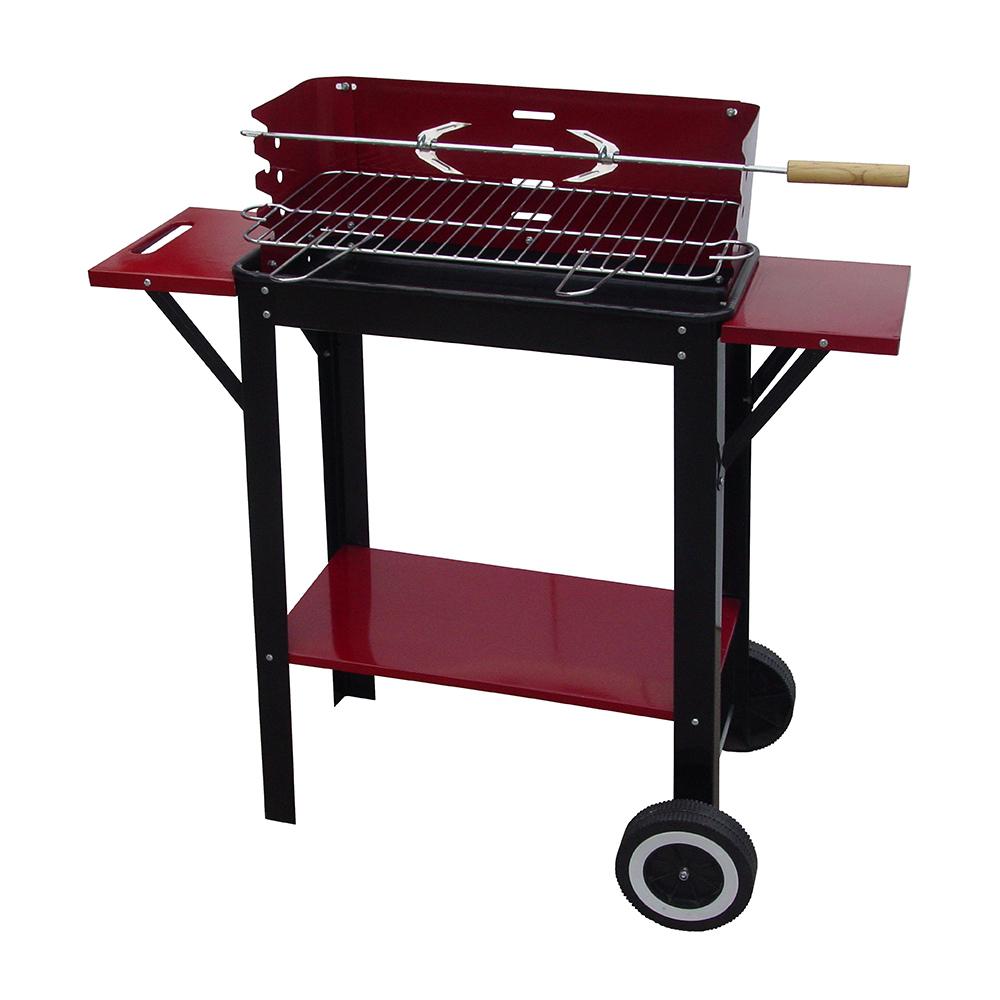 Ψησταριά κάρβουνου με τραπέζια & ρόδες 50x26cm BORMANN BBQ1140