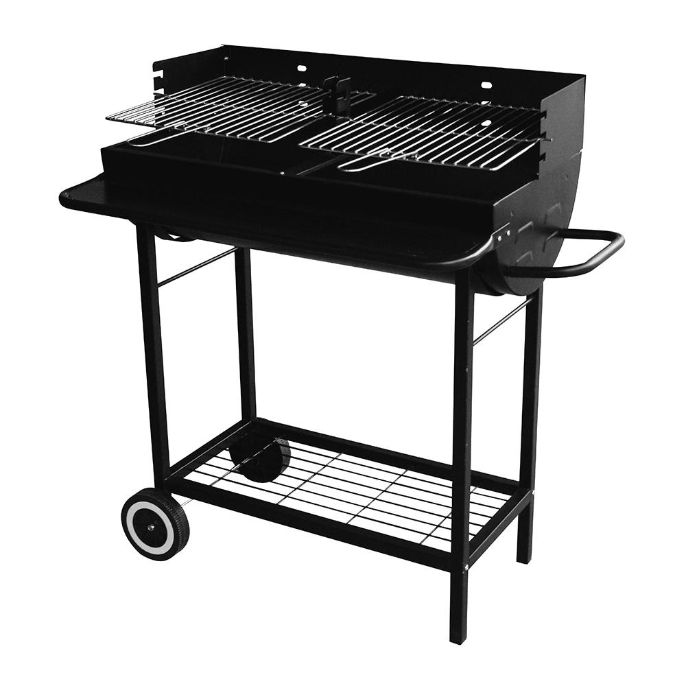 Ψησταριά κάρβουνου με τραπέζια & ρόδες 76x40cm BORMANN BBQ1170